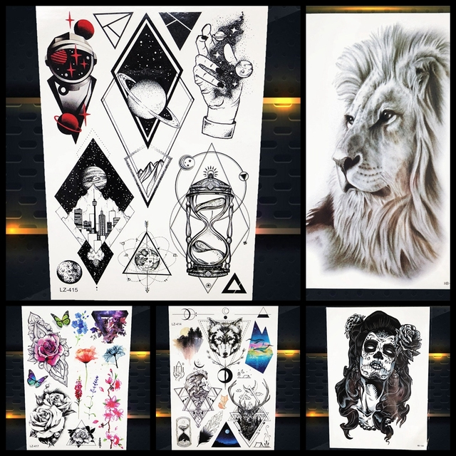 3d Hombres Popular Tatuaje Temporal Geométrico Universo Mujeres
