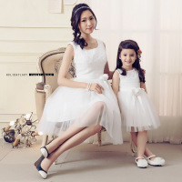 2015 Fashion Matching Mother Daughter Clothes Family Look FASHION Style Mom And Daughter Dresses