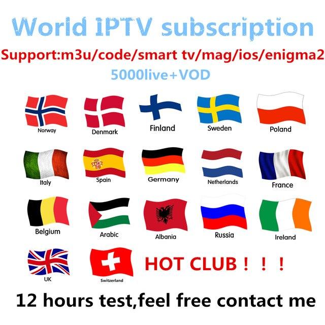 Abbonamento IPTV di Android TV Box + Europeo Svezia Arabo Francese spagna Francia Belgio Italia Germania REGNO UNITO IPTV per smart tv box