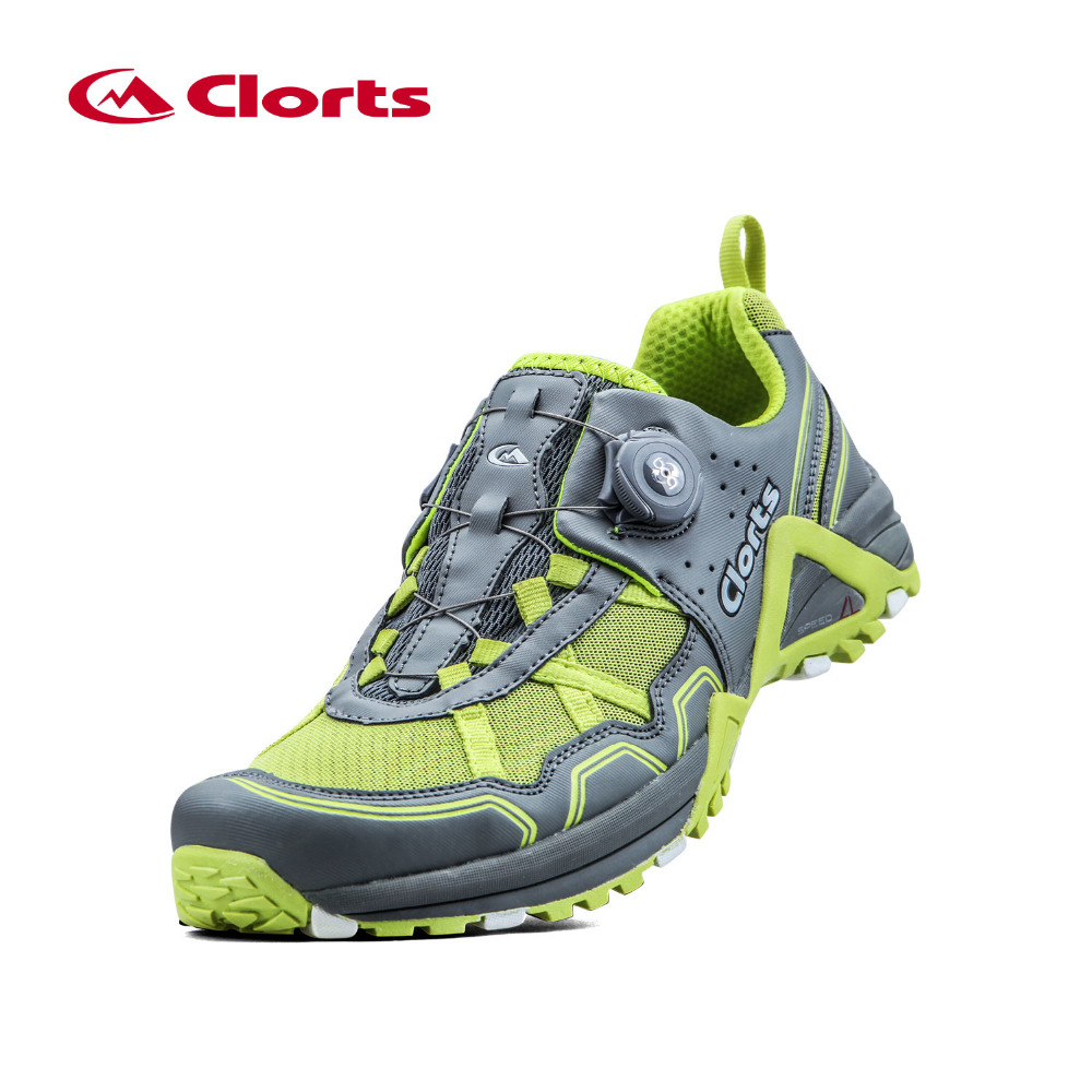Clorts hombres trail running shoes transpirable boa cordón deportes zapatos amor