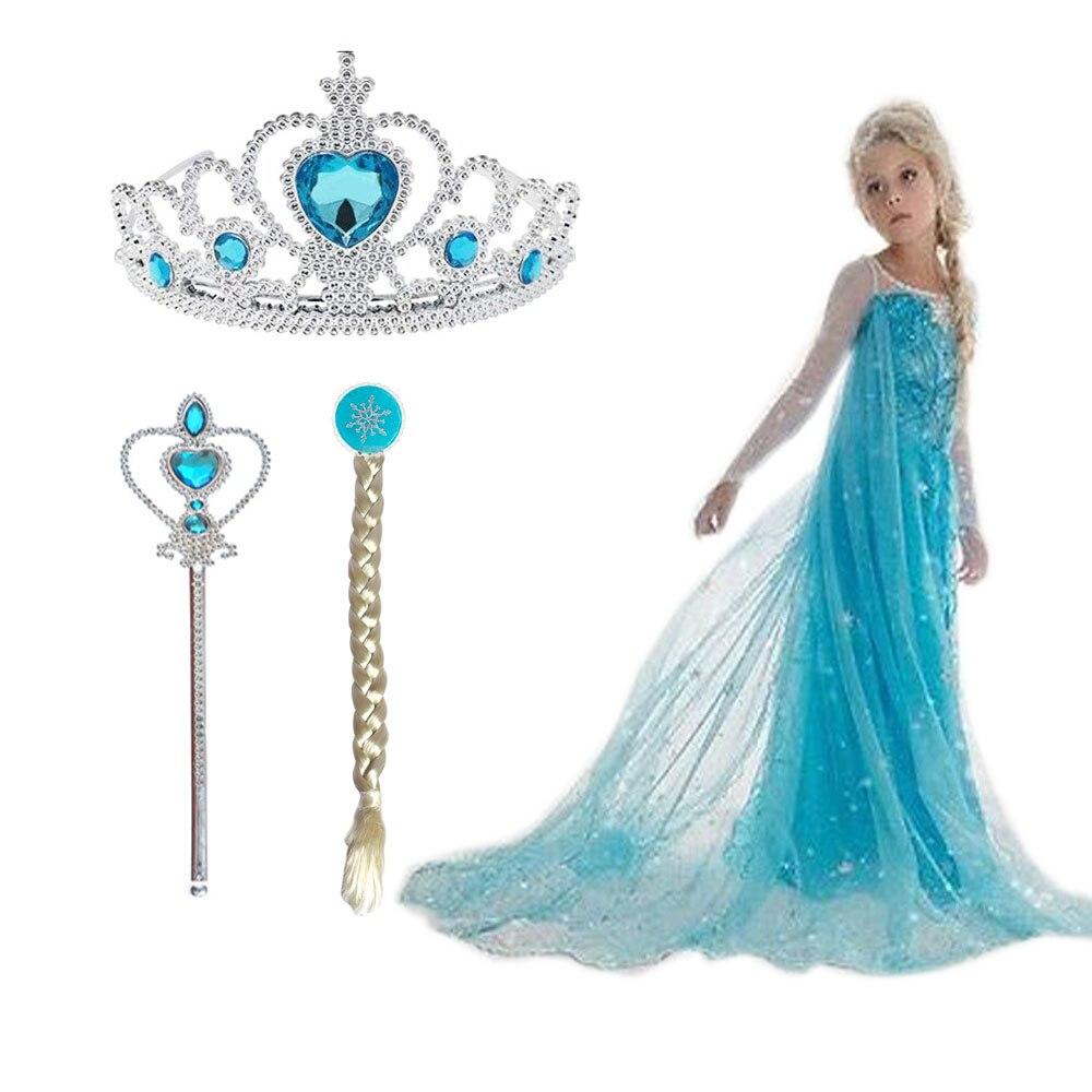 De Navidad de las niñas Elsa vestido traje de la princesa Anna vestidos de fiesta cosplay verano bebé niños vestidos de moda de Bebé Ropa de niña