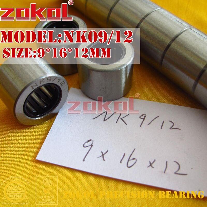 ZOKOL bearing NK09/12 needle roller bearings with-out inner ring   Sleeve(NKI6/12) Needle Roller Bearing 9*16*12mm na4910 heavy duty needle roller bearing entity needle bearing with inner ring 4524910 size 50 72 22