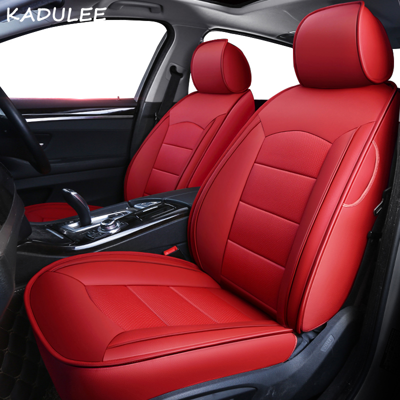 KADULEE custom real leather car seat cover for Volkswagen vw UP scirocco R36 Multivan Caravelle Sharan Variant GOLF Passat auto