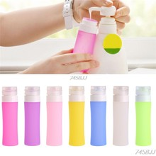 1PC Portable Refillable Silicone Bottle Traveler Lotion Shampoo Bath Containers 80ML G03 Drop Ship(China)