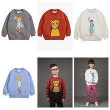 889f754d76b6d ZMHYAOKE Pre-sale2018 D hiver Bobo Choses Garçons Filles Bébé À Manches  Longues Imprimé Léopard T-shirt Enfants de T-shirts Tops.