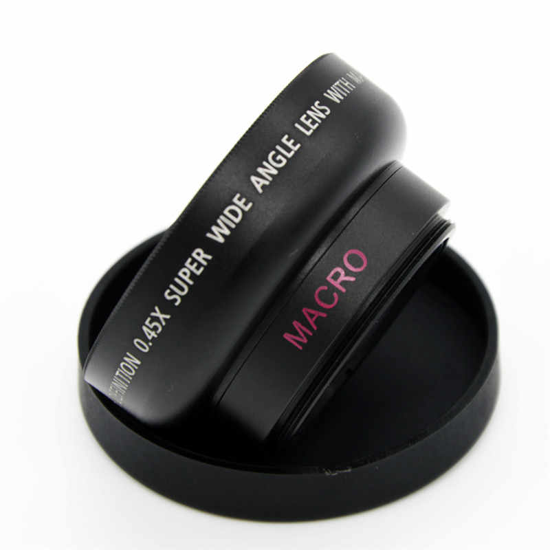 0.45X Super Wide Angle Lenses Macro Mobile Lens 37mm Digital High Definition For Canon Nikon With Carry Bag