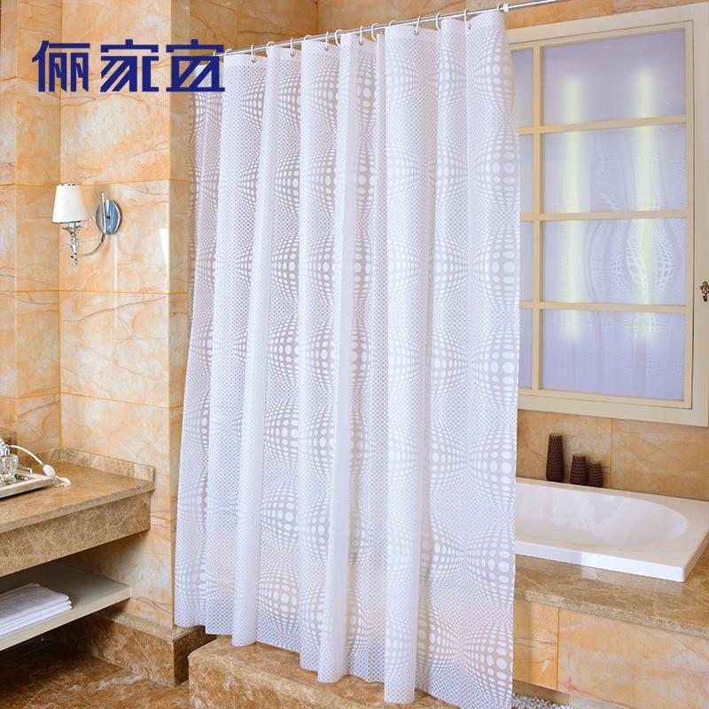 berkualiti tinggi Mandi mandi langsir bola putih PEVA bilik mandi - Barang dagangan isi rumah