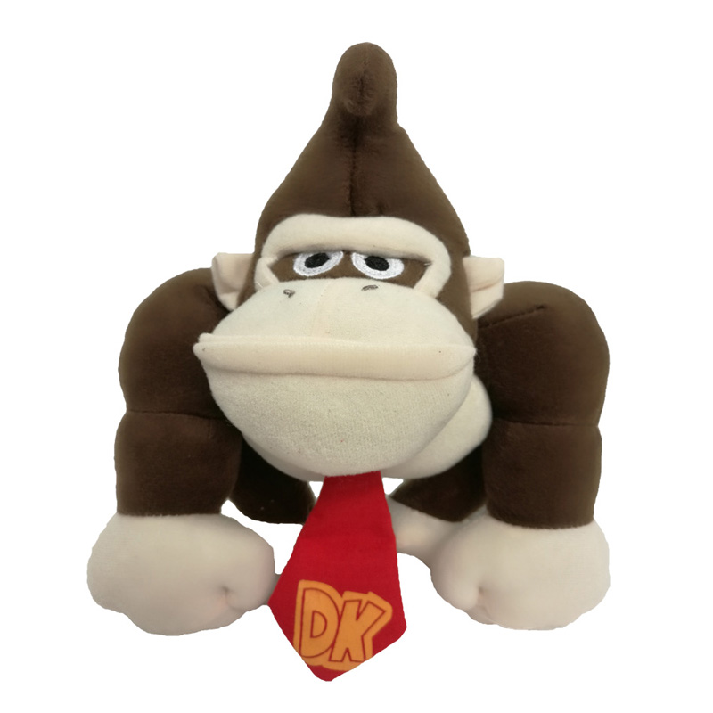 2017 Free Shipping Super Mario Bros. 8.5in/20cm Donkey Kong Plush Toy Monkey Nintendo Stuffed Doll 20cm super mario bros monkey donkey kong soft stuffed plush toys dolls kids gifts