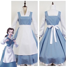 Adult Women Beauty And The Beast Costume Beauty And The Beast Belle Cosplay  Costume Blue Maid 89ab5022f0ad