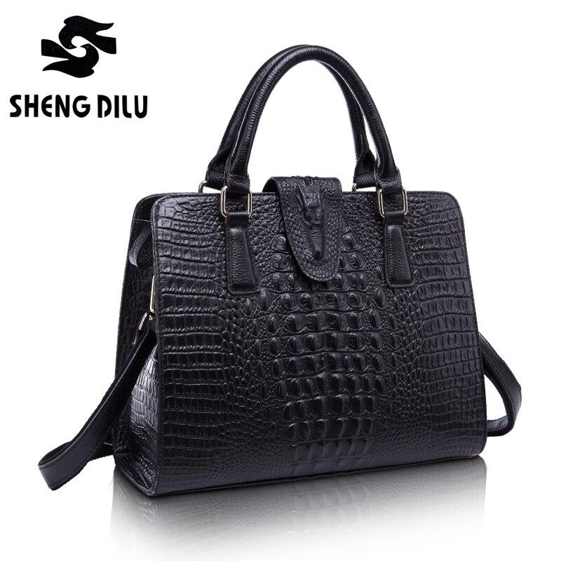 Women bag 100% Genuine leather bags handbags women famous brands luxury 2016 shoulder messenger bag dollar price black bag1447