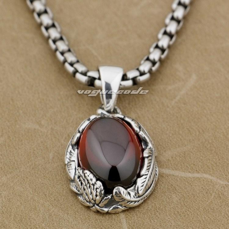 925 pendentif en argent Sterling plume rouge CZ pierre de mode 9J011 (collier 24 pouces)925 pendentif en argent Sterling plume rouge CZ pierre de mode 9J011 (collier 24 pouces)