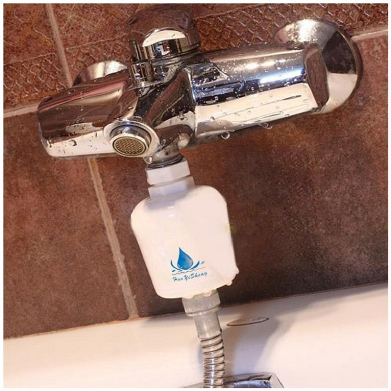 Portable Removable Healthy Bathroom Kitchen Bath Shower Head In Line Faucet  Clean Water Tap Softener Filter Purifier #54787