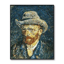 Van Gogh Poster Painting by numbers Framed Famous Oil Coloring by number for adults Acrylic Paint by Number Kits(China)