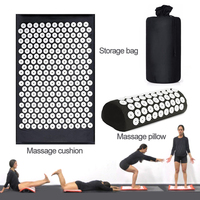 Massage Cushion Massage Pillow And Storage Bag Suit Acupressure Mat Massage For Back Leg Foot Aid Relieve Soreness And Relaxing