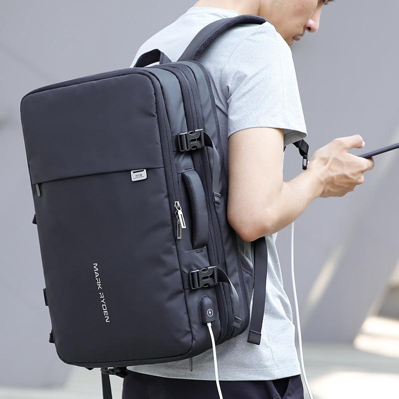 Дизайнерский мужской рюкзак с зарядкой через USB, с защитой от кражи, рюкзаки для путешествий, большая вместительность, мужская деловая сумка... - 6
