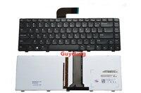 EUA Inglês teclado do portátil para DELL Inspiron DELL N4110 N4040 N4050 M4040 M4050 14VR M411R backlight