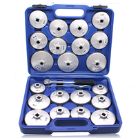 23 Pcs 1/2 DR Aluminum Alloy Cup Type Oil Filter Cap Wrench Socket Removal Set