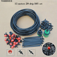 DIY Drip Irrigation System Automatic Watering Irrigation Systems Micro Drip Garden Hose Watering Kit with Adjustable Drippers|Watering Kits|   -