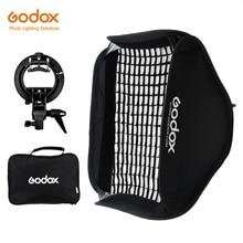 Godox Pro Adjustable 60cm x 60cm Flash Soft Box Honeycomb Grid Kit with S Type Bracket Bowen Mount Holder for Speedlite Flash