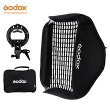 Godox Pro Verstelbare 60 cm x 60 cm Flash Soft Box Honeycomb Grid Kit met S Type Beugel Bowen mount Houder voor Speedlite Flash