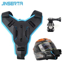 JINSERTA Full Face Helmet Chin Mount Holder for GoPro Hero 7 SJCAM Motorcycle Helmet Chin Stand for Gopro 6/5 Camera Accessory