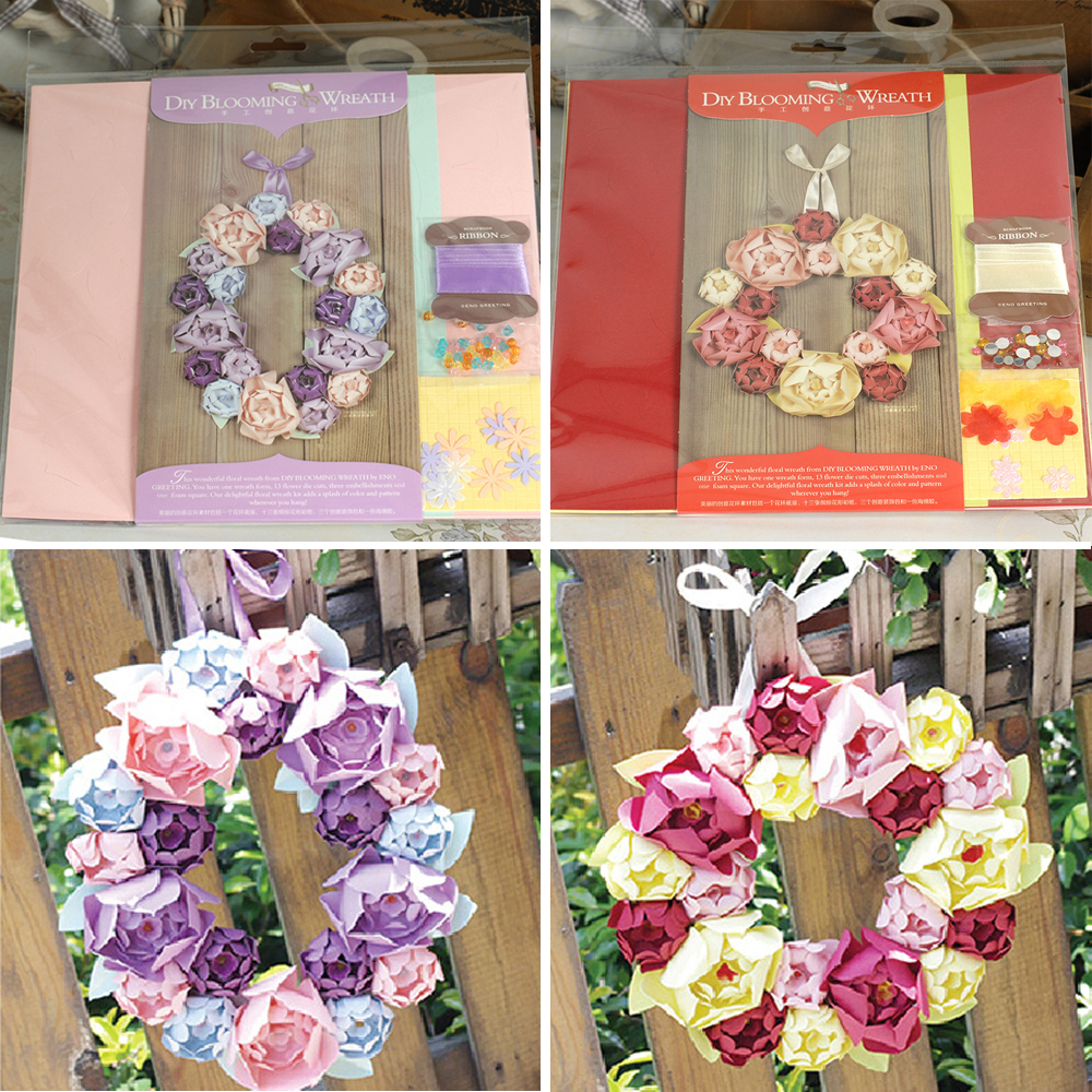 Buy 2 Designs Of 9 Handmade Paper Wreath