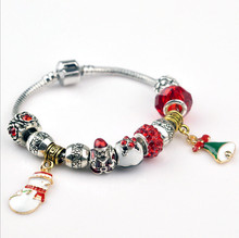 kpop christmas xmas tree snow man pendant bracelet bangle gift new year gift diy jewelry bracelet bangle