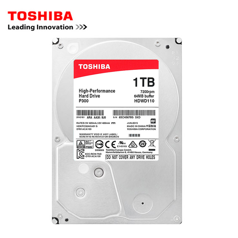 Toshiba brand 2TB ordenador de escritorio 3,5
