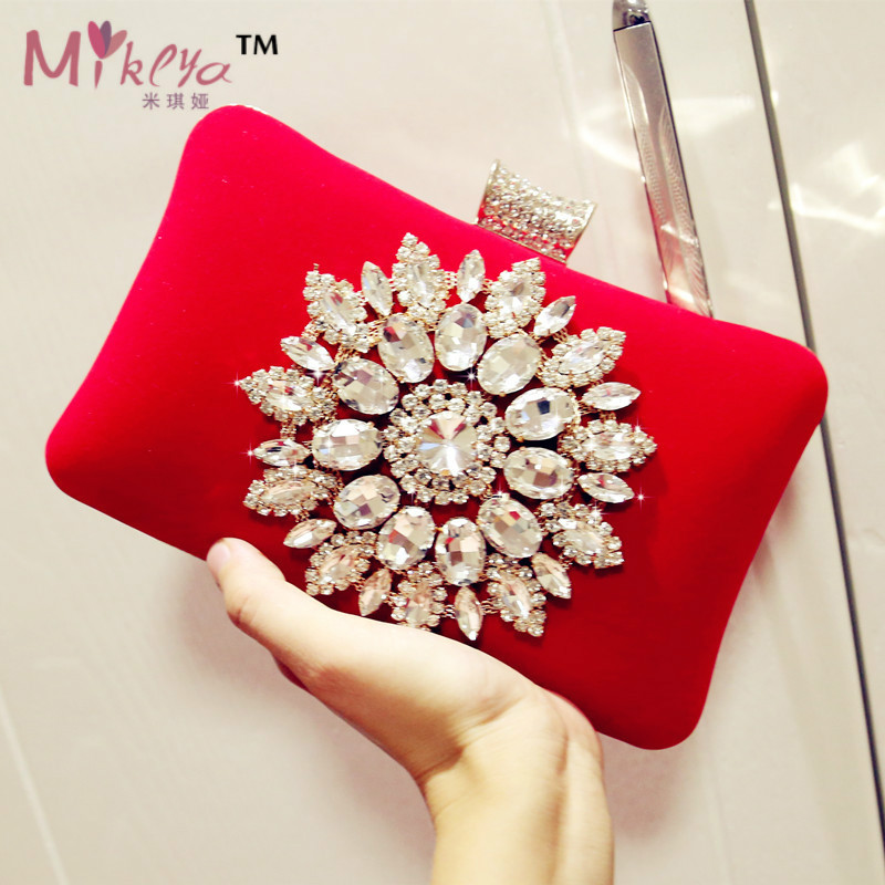2017 Nuevo Single Side Sun Diamond Crystal Bolsos de Tarde Del Embrague Estilo C