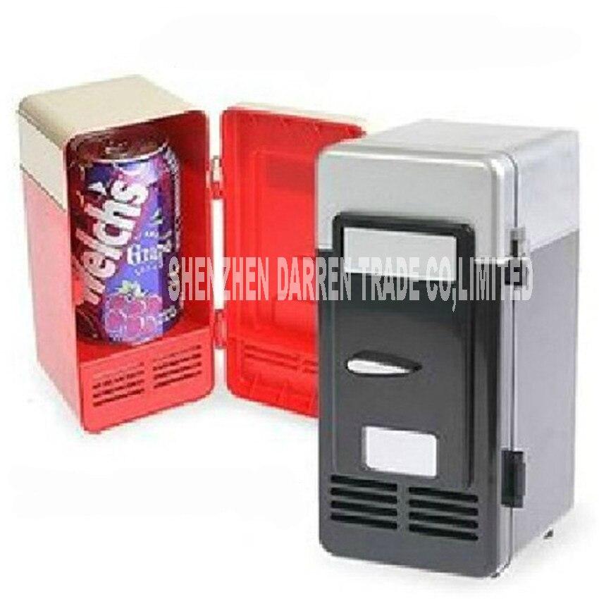 5V (DC) Usb Portable Refrigerator Mini Desktop Fridge Cooler Personal Fridge Mini Desktop 10W USB Hot And Cold Refrigerator