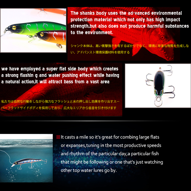 YTQHXY Fishing Lure 2018 New arrival Quality hooks 12.5cm/17.3g Topwater Artificial Bait Hard hot sale Wobbler minnow YE-88
