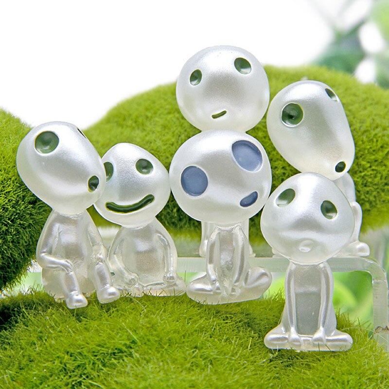 6pc/lot Princess Mononoke Luminous Elves Tree Doll Cartoon Alien Cute  Kodama Gardening Doll Great