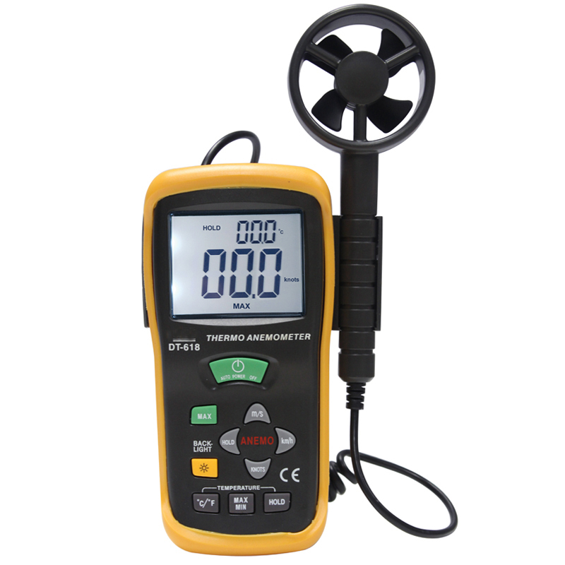 The wind speed test The temperature test DT-618