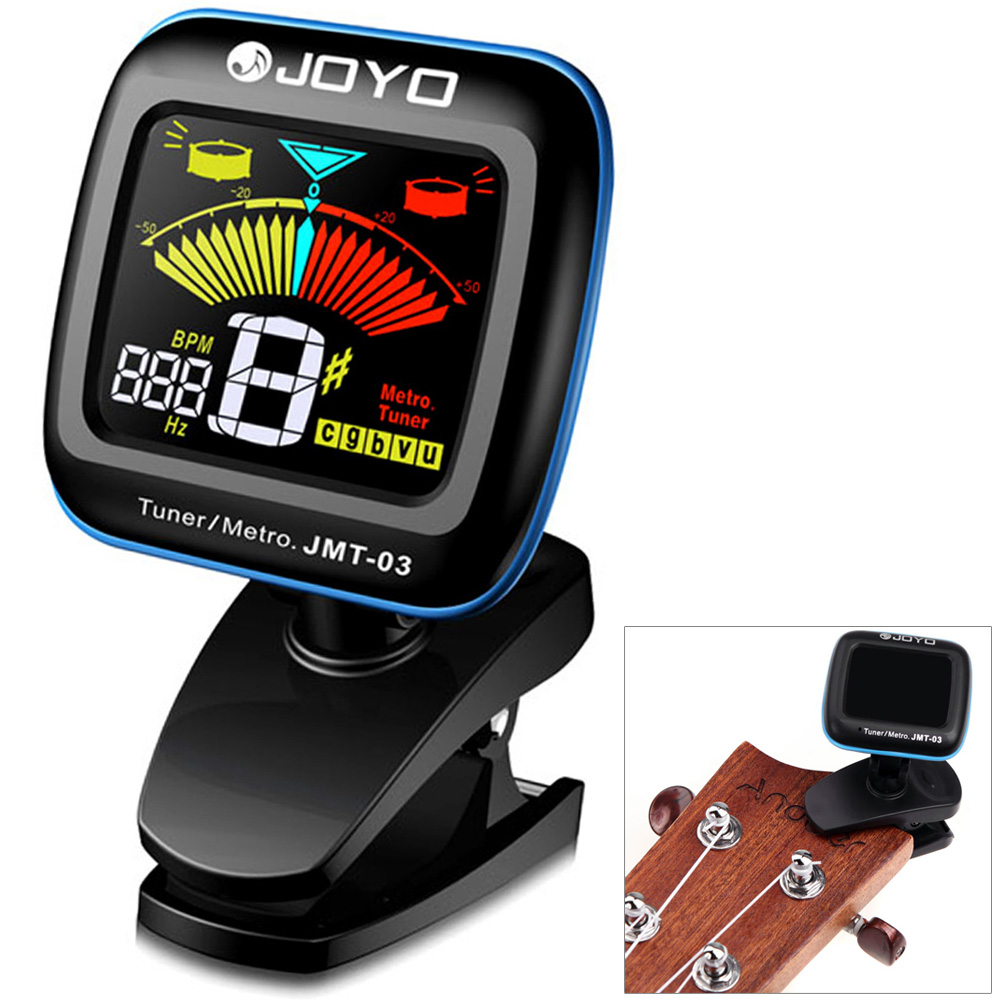 joyo jmt 03 electric tuner 360 degrees rotation color lcd guitar tuner metronome for bass. Black Bedroom Furniture Sets. Home Design Ideas