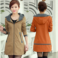 Женщины Ветровка Hitz Корейский Длинный Плащ для Женщин Плюс Размер Длинное Пальто Зимой Женщины 6xl