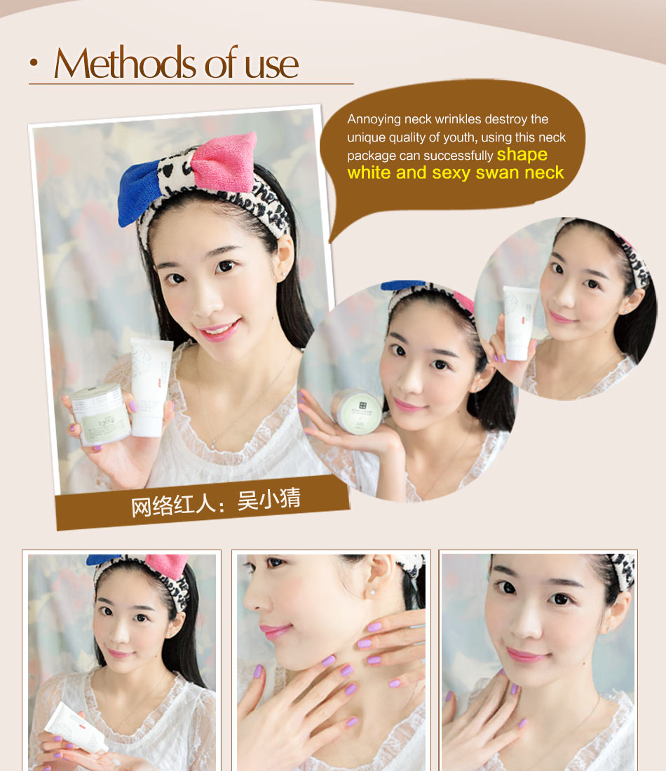 MEIKING Neck Mask Neck Cream Skincare Anti wrinkle Whitening Moisturizing Nourishing Firming Neck Care Set Skin Care Set 180g 10