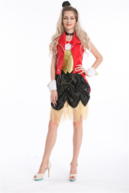 09b4547a3acd7 Sexy Circus Ringmaster Lion Tamer New Fancy Dress Costume Ladies-in ...