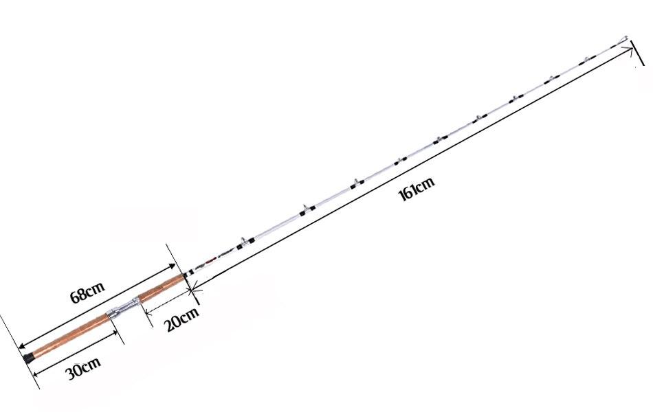 2 unidades pacote 2.28 m catfish vara