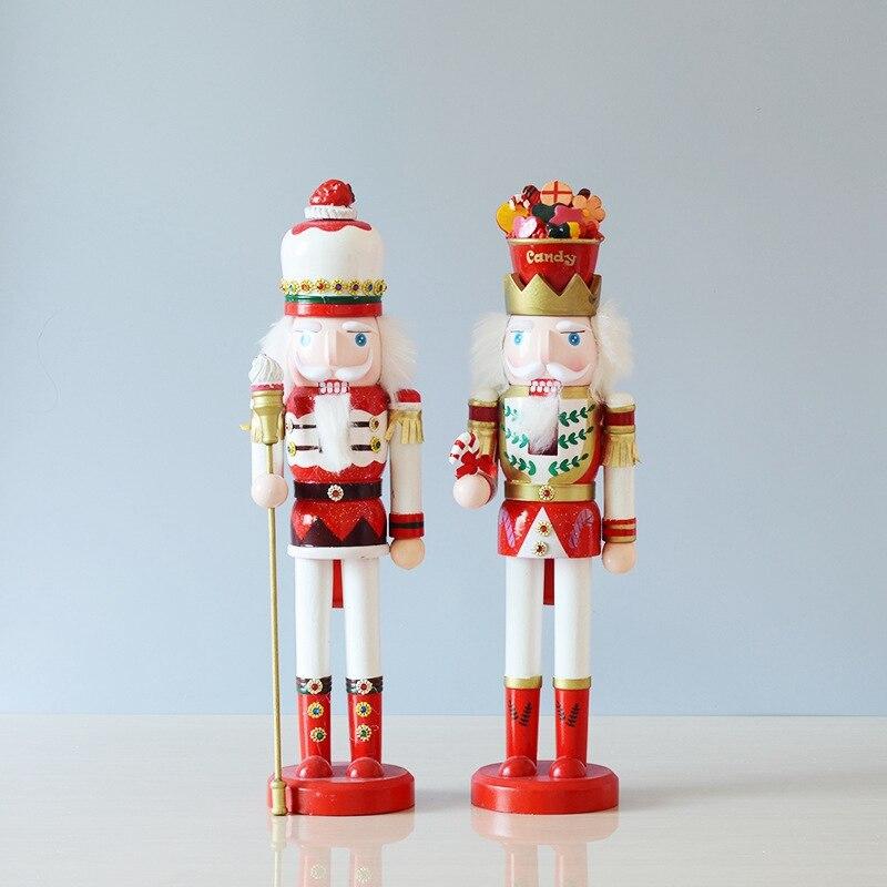 Nouveauté exquise colorée en bois casse-noisette Figurine artisanat pour amis enfants cadeaux maison bureau décor à la maison et affichage