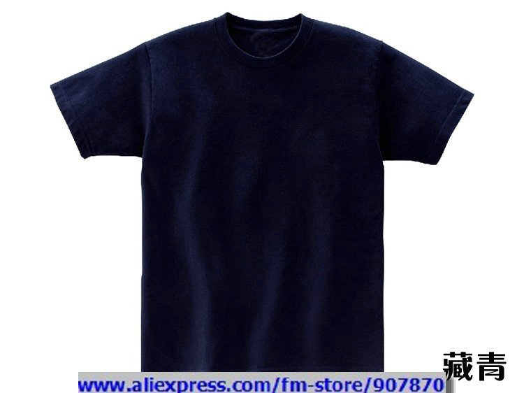 Cheap Womens Mens Navy Blue Blank T Shirt Solid Color T