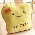 Candice guo new arrival creative household plush toy stuffed pillow butter bread slices toast cushion holding birthday gift 1pc