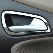 4pcs Stainless steel interior doors hand-clasping decoration ring ,auto accessories For Ford Focus 3 MK3 2012-2013 Accessories