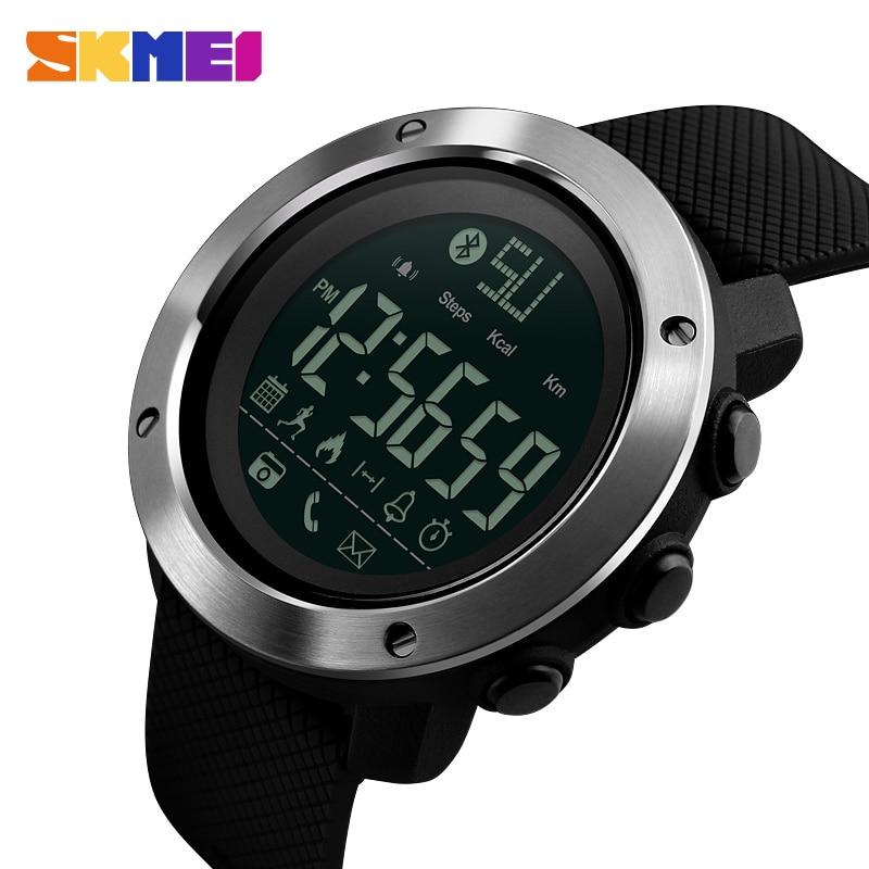 SKMEI Brand Bluetooth Smart Watch Men Women Waterproof Pedometer Calorie Smartwatch Fashion Electronic Digital Sports Watches