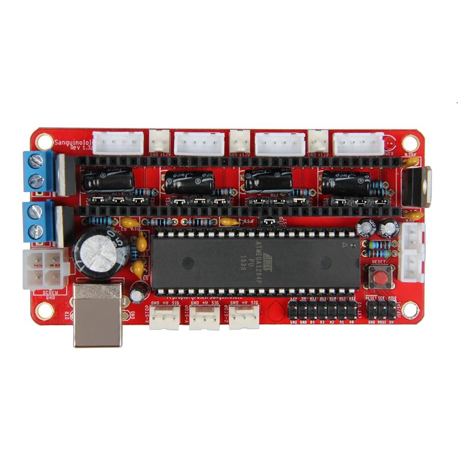 Geeetech RepRap Sanguinololu Rev 1.3a Control Board PCB for 3D Printer  Mendel geeetech evaluation board for silicon laboratories si4703 fm radio module tuner