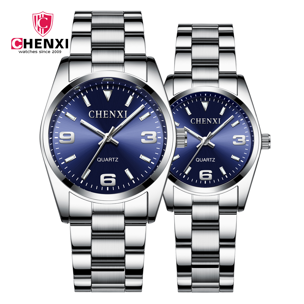 CHENXI Lovers' Quartz Watch Set Men Watch Women Valentine Clock Couple Watches Waterproof Wristwatch Masculino Reloj Mujer Hombe