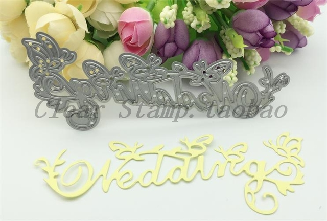 Wedding Letter Sign Metal Steel Cutting Dies Stencils Diy