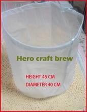 Home Brew Filtro Bolsa Altura 45 cm Diámetro 40 cm Brouwen Reutilizable Para HomeBrew Puré Tun Hop Vino Cerveza Cerveza en la Bolsa