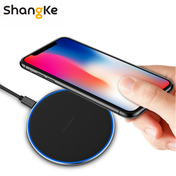 10W Fast Qi Wireless Charger Mobile phone pad For Samsung S9 S8 Note8 S7 Wireless Charging Pad For iPhone XS XR X 8 Puls Charger