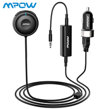 Mpow Bluetooth Round Car Receiver with Car Charger Connector black Bluetooth Music Receiver for Car Stereos MP3/MP4 kwen link 485 bluetooth v4 0 music receiver for iphone ipad more white black