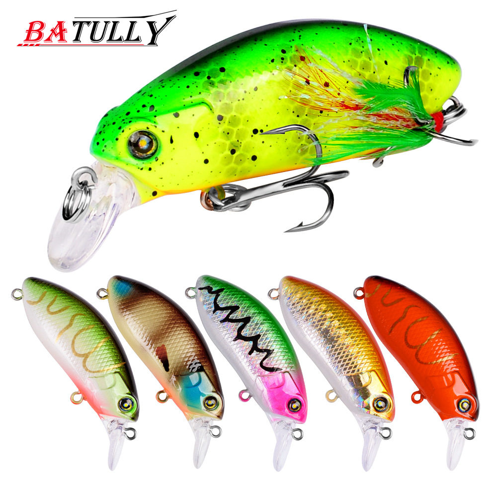 BATULLY Fishing Lure Minnow 1PC Artificial Fishing Lures 59mm 9g France VMC Hook 8# Crankbait Hard Baits Pesca Cebo Fishing Bait ...